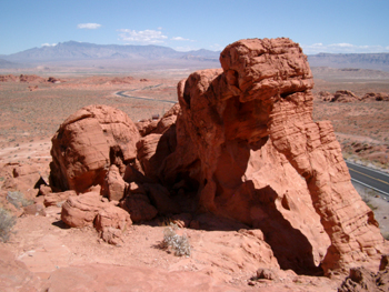 Valley of Fire State Park, Elefant Rock, Nevada USA