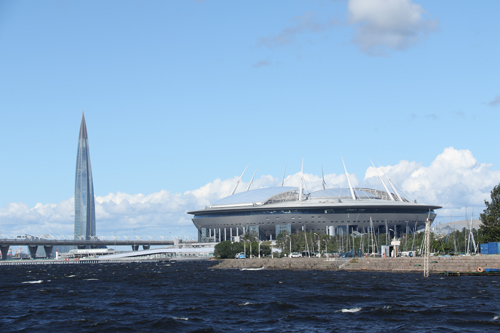 Stadion und Lakhta Center